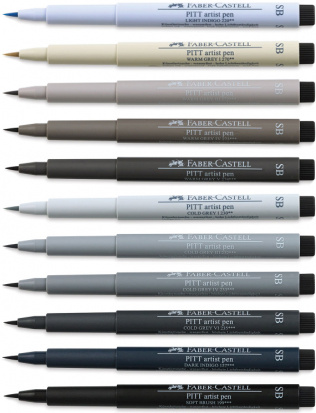 "FABER-CASTELL Ручки-кисти ""Pitt Pen Soft brush"" поштучно"