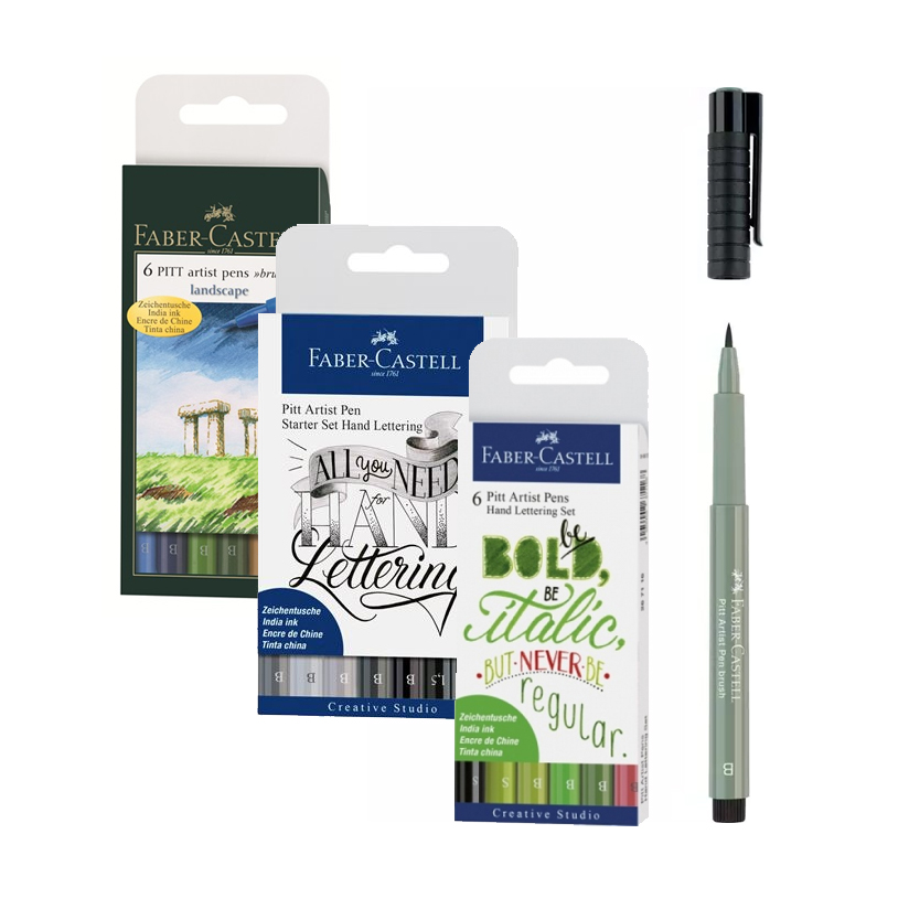 "FABER-CASTELL Ручки-кисти ""Pitt Pen brush"" в наборах"
